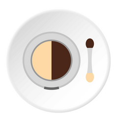 Round eye shadow icon circle vector