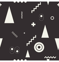 Seamless geometric pattern black and wiht vector