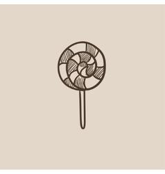Spiral lollipop sketch icon vector image