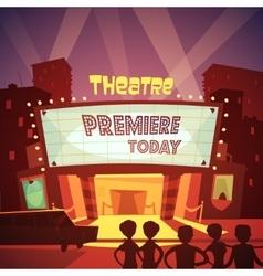Theatre building vector