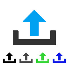 Upload container flat icon vector