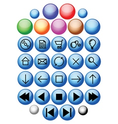 webpage icons vector image vector image