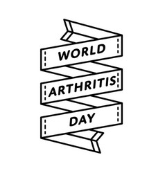world arthritis day greeting emblem vector image vector image
