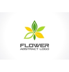 Abstract logo for business company Eco vector image