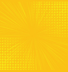 Yellow side hatch with halftone effect vintage vector