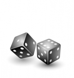 Black dices vector