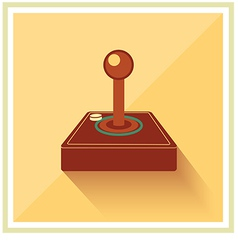 Computer video game joystick controller vector