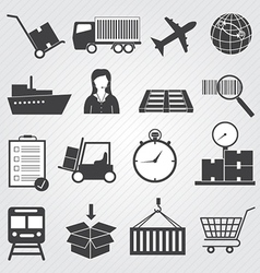 Logistic and delivery icons set vector