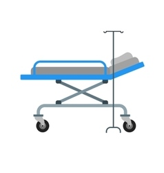 Hospital bed vector