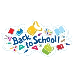 Back to school lettering or design template vector