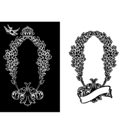 royal ornate wreath vector image