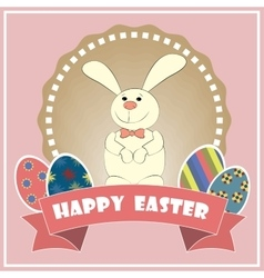 Happy easter easter bunny vector
