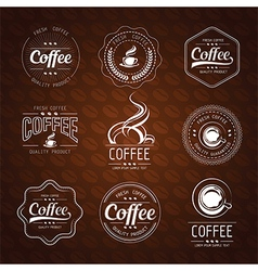 Coffee label3 vector
