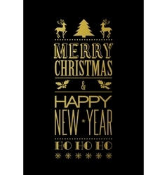 Merry christmas typography vector