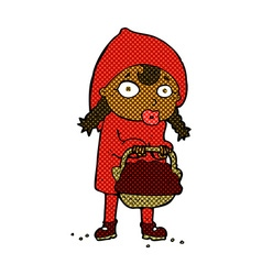 Little red riding hood comic cartoon vector