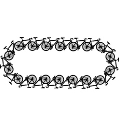 Bicycle chain vector