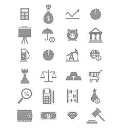 Gray economy icons set vector image