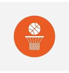 Basketball basket and ball icon sport symbol vector