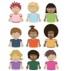 children icons vector image