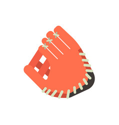 baseball glove design elements game equipment vector image