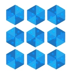 Cartoon isometric water game brick cube vector image vector image
