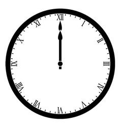 Clock 1200 vintage vector