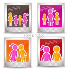 colorful family photo vector image vector image