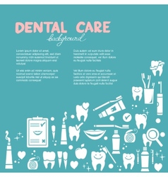 Dental care background vector