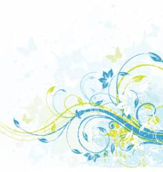 Floral background element vector