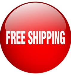 Free shipping red round gel isolated push button vector