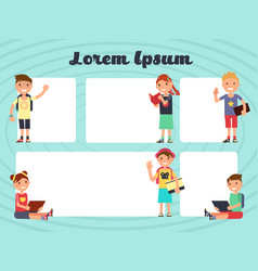 fun frames kids layout texting brochure vector image vector image