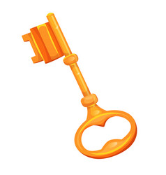 gold key icon vector image