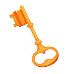Gold key icon vector