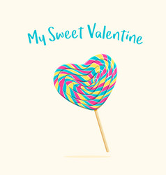 heart lollipop vector image