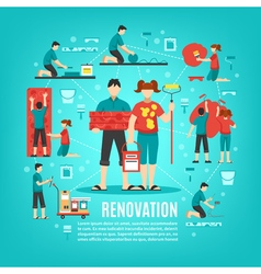 Home cosmetic repair concept vector
