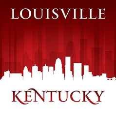 Louisville Kentucky city skyline silhouette vector image