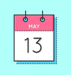 May calendar icon vector