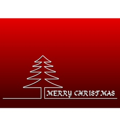 merry christmas on red background vector image