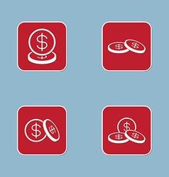 money coin icon set vector image