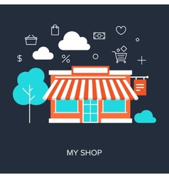 My Shop vector image