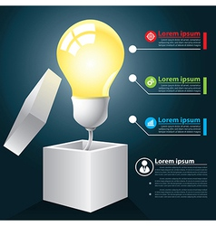 Open idea infographic vector image vector image