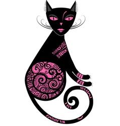 Pink cat vector