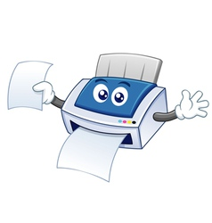 Printer cartoon vector image
