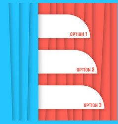 red and blue striped background vector image