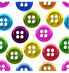 seamless pattern with button vector image