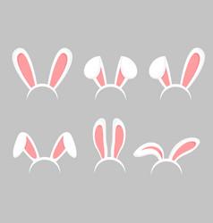 set of easter bunny cartoon vector image
