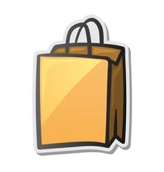 Shopping bag icon sticker vector