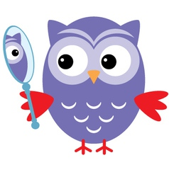 Owl mirror vector