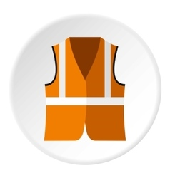 Reflective vest icon flat style vector