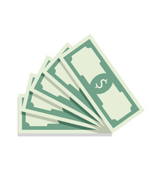 fan of banknotes vector image